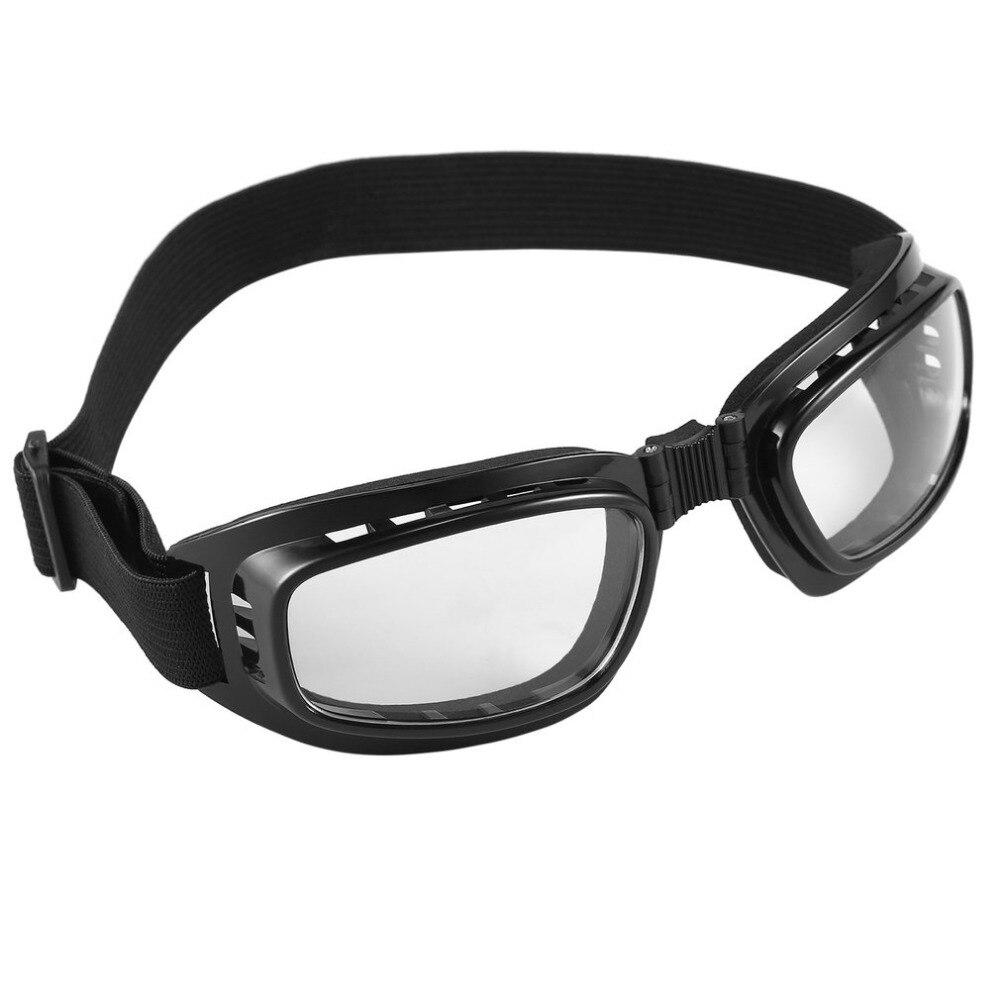 New Foldable Vintage Motorcycle Glasses Windproof Goggles Ski Snowboard Glasses Off Road Racing Eyewear Dustproof Goggles