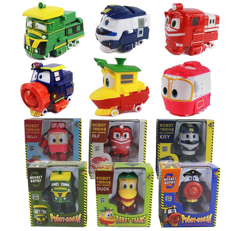 12CM Robot Trains Transformation Kay Alf Dynamic Train Car Action Figure Toys Doll Train Family Deformation for Kids Boy Gift hyperset noble hs6012