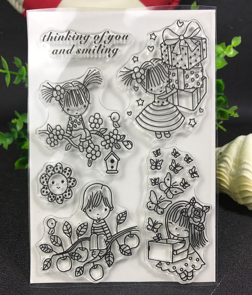 A birthday present Transparent Clear Silicone Stamp/Seal for DIY scrapbooking/photo album Decorative clear stamp about loving heart design transparent clear silicone stamp for diy scrapbooking photo album clear stamp christmas gift ll 278