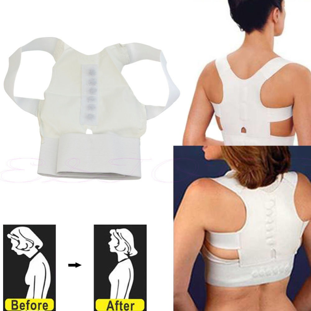 2017 Magnetic Therapy Posture Pain Corrector Body Back Belt Brace Shoulder Support