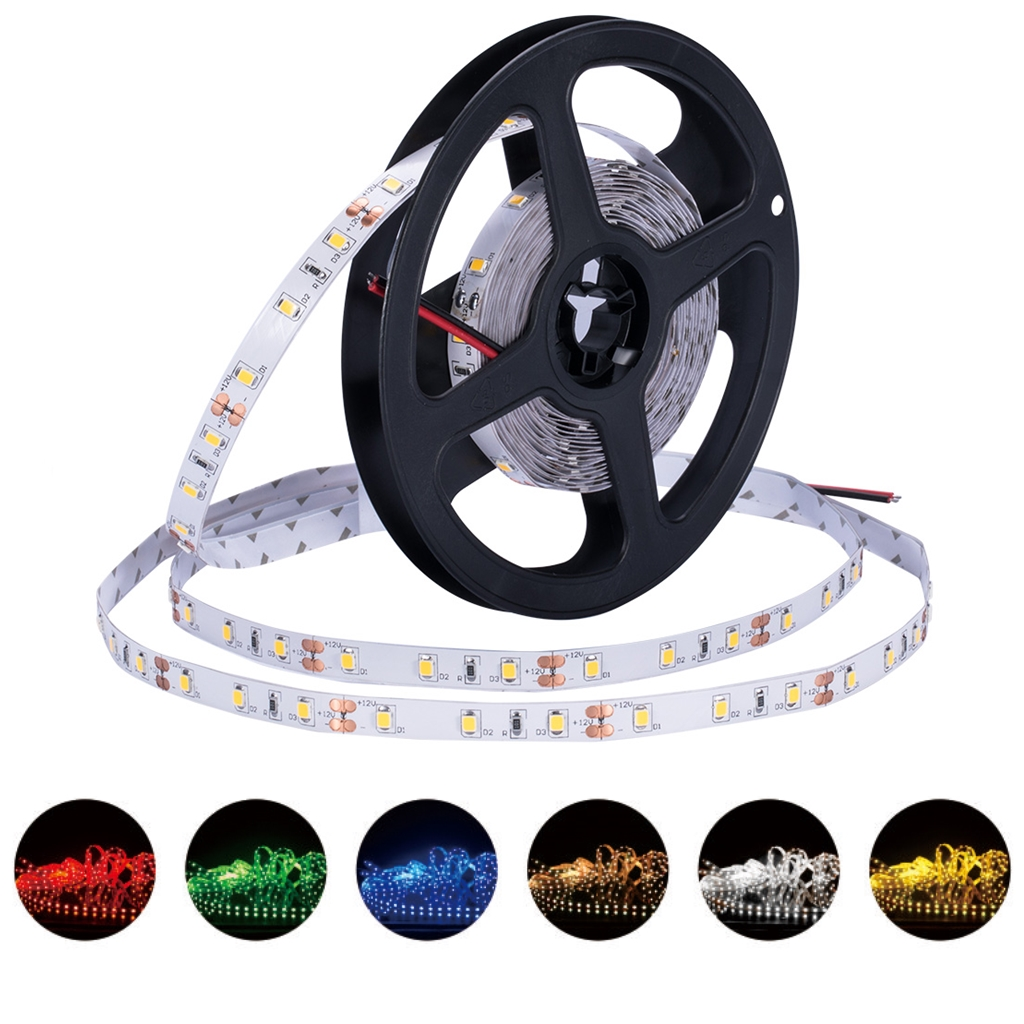цена на 12 V Strip Led Light Tape SMD 2835 RGB Waterproof 1M 5M DC 12V 60LED/M RGB Led Strip Tape Lamp Diode Flexible For TV Backlight