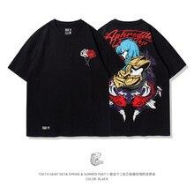 TEE7 男性のプラスサイズ Tシャツクラシックアニメゴールド聖闘士星矢アポロ魚座高品質少年少女の黒夏 tシャツ