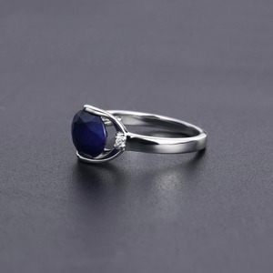 Image 5 - GEMS BALLET 925 Sterling Silver Engagement Rings 3.24Ct Natural Blue Sapphire Gemstone Ring for Women Fine Jewelry