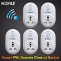 5 uds S72 enchufe inteligente KERUI UE EE. UU. Reino Unido AU WiFi IOS Android APP Control inteligente para el sistema de alarma de seguridad del hogar