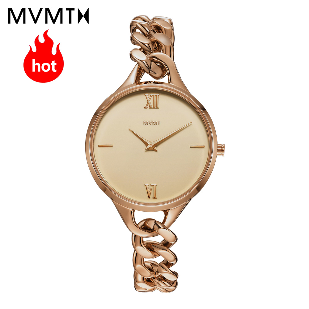 MVMT watch | Official flagship store Genuine vintage women's female watch waterproof quartz Bracelet Watch Rose gold steel watch недорго, оригинальная цена