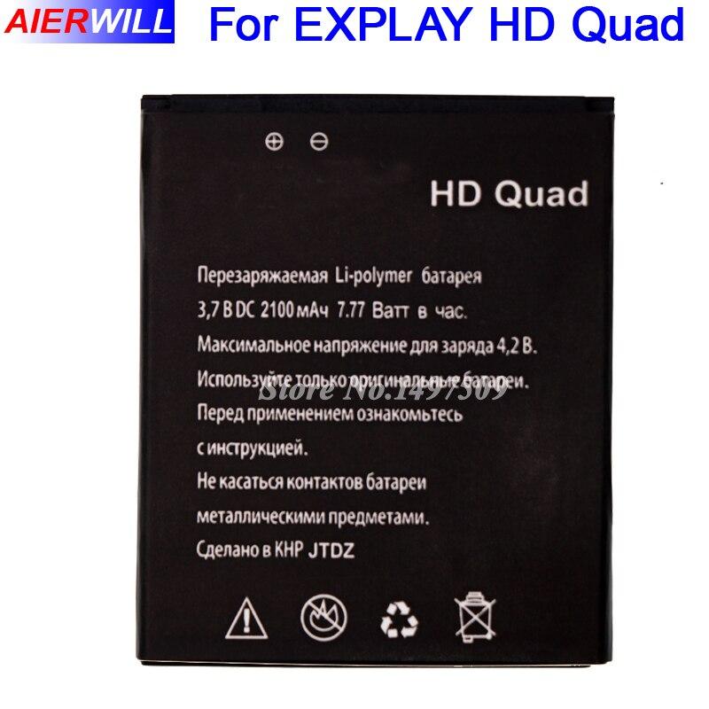 For <font><b>EXPLAY</b></font> <font><b>HD</b></font> Quad <font><b>Battery</b></font> Accumulator 2100mAh High Quality