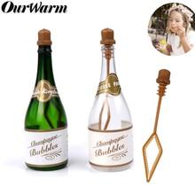 OurWarm 12 шт., бутылочка с ручкой для свадебного мыла, прозрачный мини-бутылка для шампанского, подарок для гостя, украшение для свадебной вечеринки