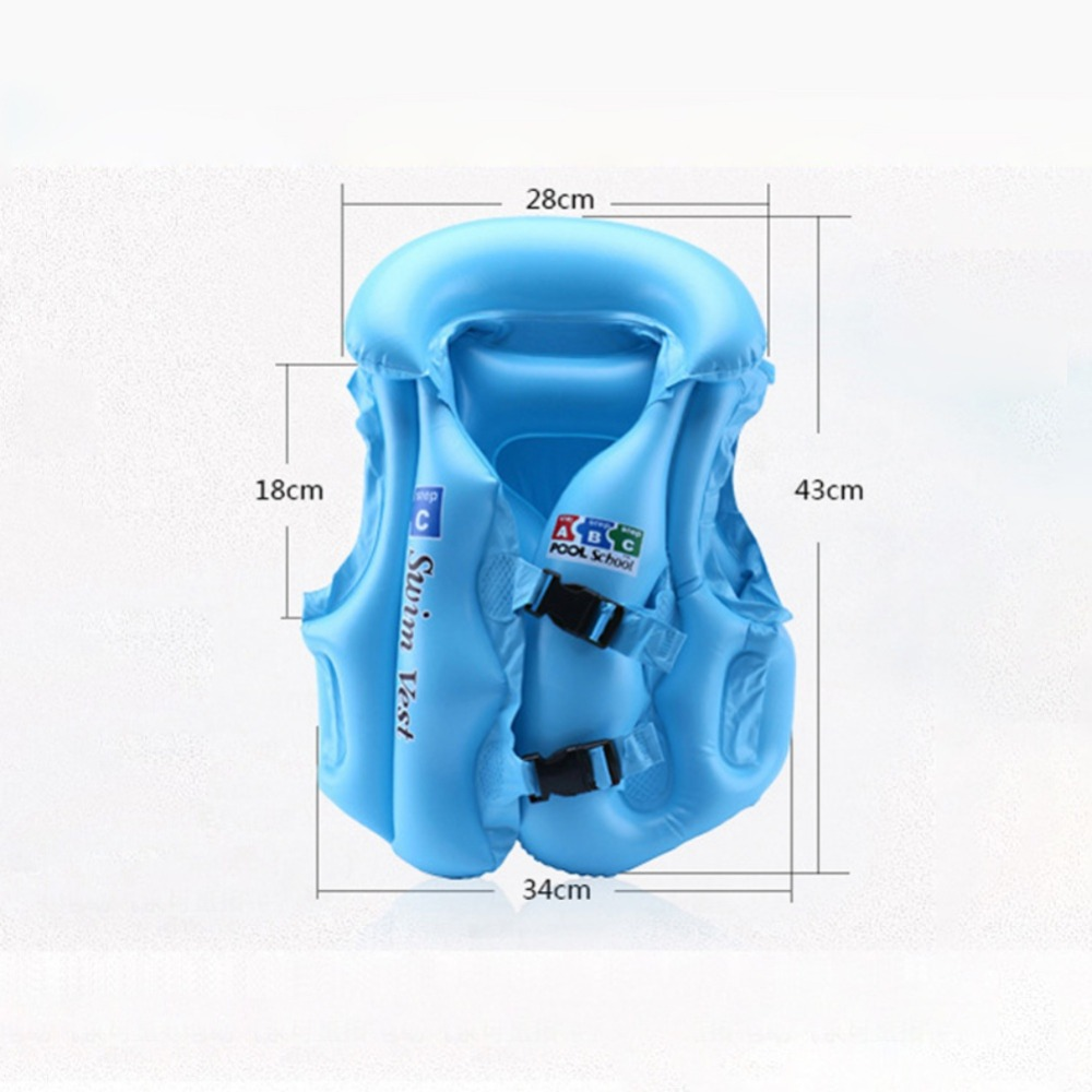 Baby Kid Safety Float Inflatable Swim Vest Life Jacket Swimming Aid For Age 3-6 S M L PVC Float Inflatable Swim Vest Life Jacket