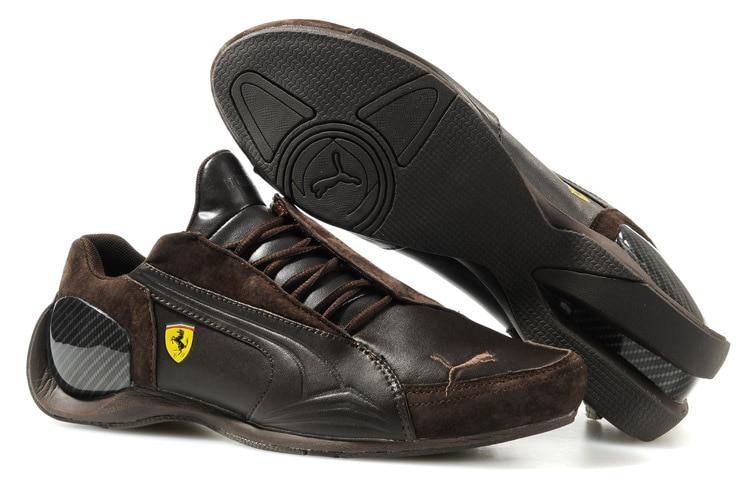 2018 Пума дышащие мужские кожаные кроссовки Ferr-ari обувь красный/белый/черный/коричневый бадминтон обувь Size39-45