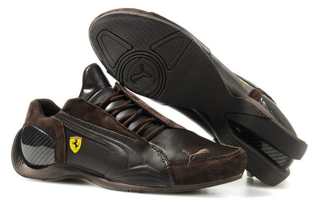 2018 Пума дышащие мужские кожаные кроссовки Ferr-ari обувь красный белый  черный  8d6807cea15