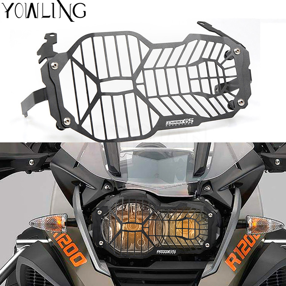 Headlight Bracket Guard Grid Grille Protector Lense Cover Protectors For BMW R1200GS ADV 2012 2013 2014 2015 2016 Adventure