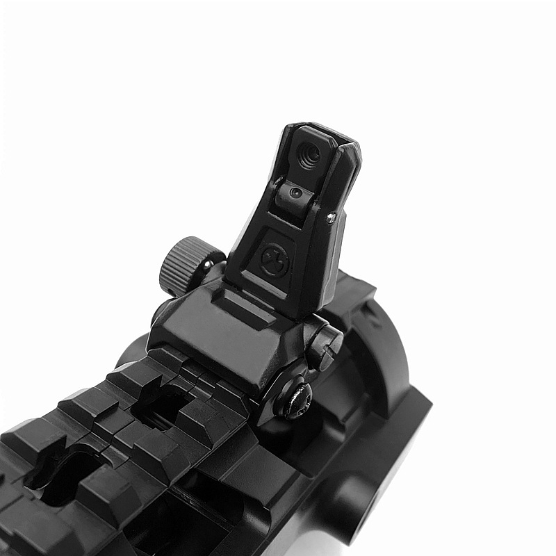 Image 4 - Rear Sight Tactical Flip Up Rapid Transition BackUp Front & Rear Sight Set for 20mm Picatinny RIS /RAS Rail Hunting Scope MountRiflescopes   -