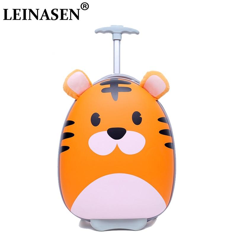 Cartoon Student Trolley Box Cute Child Trolley Box 18 Wheels Luggage Child Scroll Travel Luggage Student Schoolbags