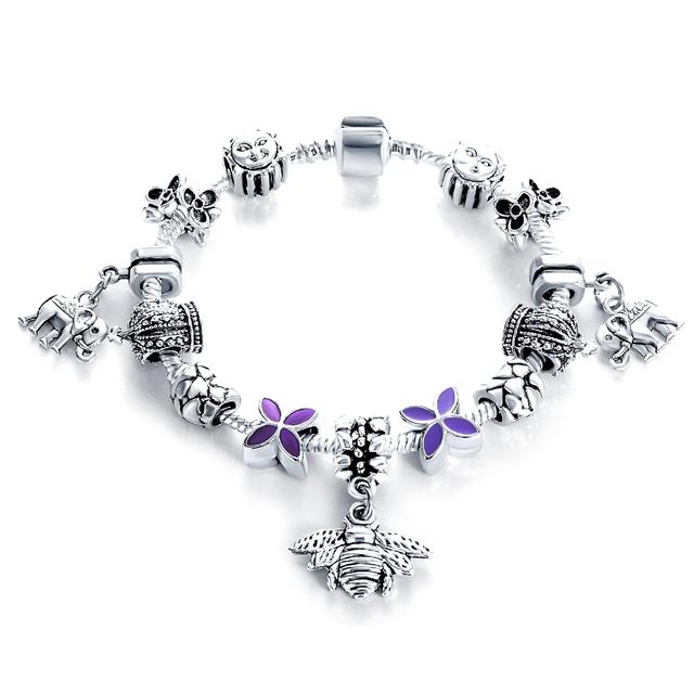 Authentic Antique Silver Beads Bracelet