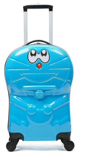 18 pulgadas Doraemon niños Juego de equipaje rodante 9 pulgadas bolsa de cosméticos de dibujos animados maleta de viaje para niños-in Equipaje de ruedas from Maletas y bolsas    3