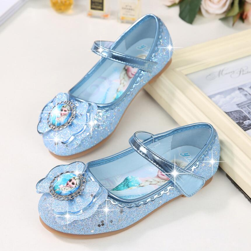 KKABBYII Children Shoes Kids Girls Fashion Princess Spring Cute Elsa Sandals Chaussure Enfants Flat Party Elsa Shoes