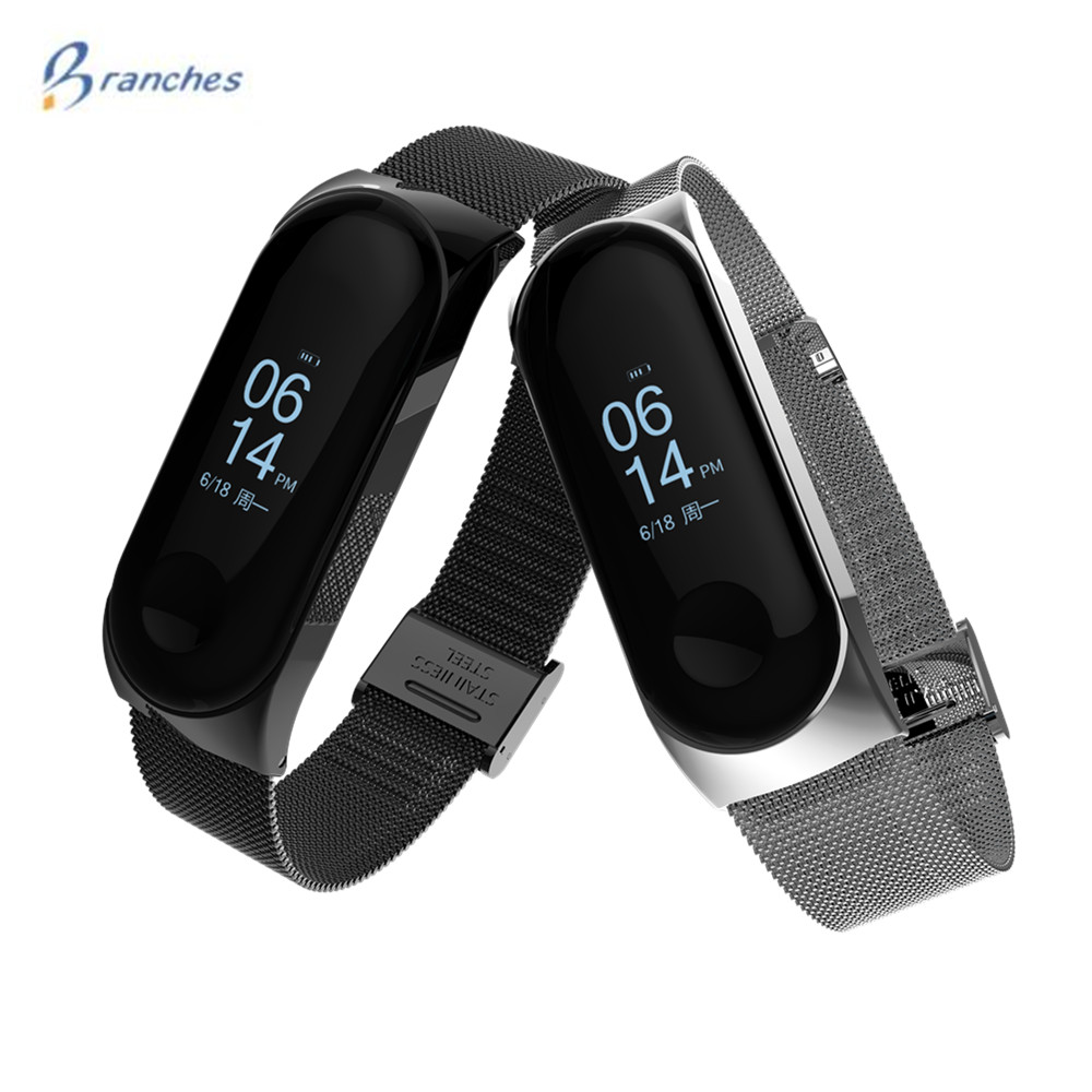 mi band 3 bracelet for Xiaomi mi band 3 Metal Strap wrist strap Screwless Stainless Steel Bracelet Wristbands MiBand 3 strap