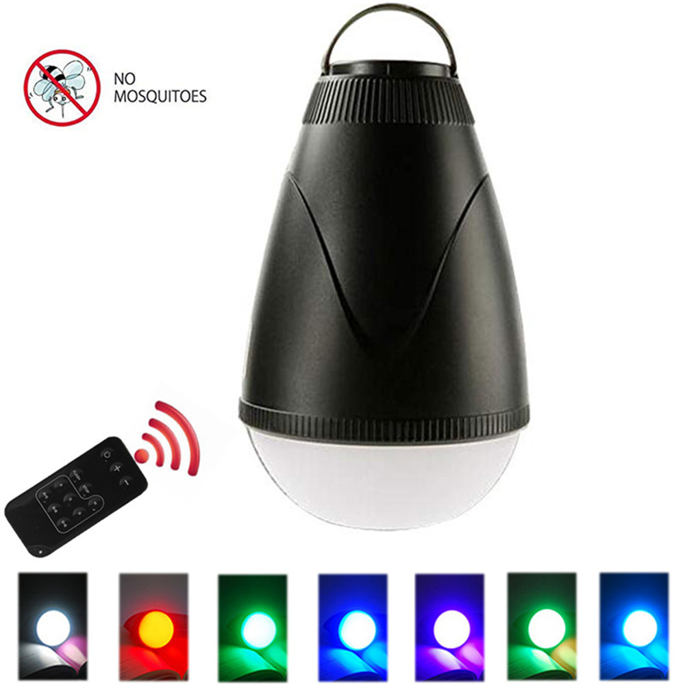 LEDGLE Simple Camping Lantern With Mosquito Repellent Remote Controlled LED Lamp Waterproof Outdoor Lamps Rechargeable RGB Light