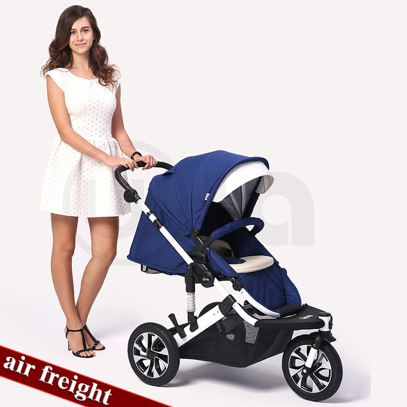 Three-wheeled stroller high landscape can sit and retreat to stroller baby strollerThree-wheeled stroller high landscape can sit and retreat to stroller baby stroller