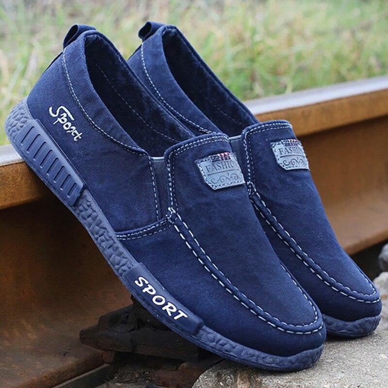 2019 homens sapatos vulcanize sapatos novos sapatos masculinos sapatos de lona adulto conforto dos homens tênis denim mocassins zapatillas hombre