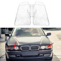 Car Headlight Glass Cover Clear 4 Door Automobile Left Right Headlamp Head Light for BMW E38 728i 730i 735i 740i 1999 2000 2001