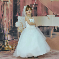 Hot Sales HG Princess 2 6 Years Ivory Flower Girl Dresses For Weddings Ankle Length Party