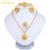 Ethlyn 2.6 cm Etíope ewelry Africano sistemas de La Joyería joyería de la boda establece 18KGP/Sudán/Nigeria/Kenia joyería nupcial establece S048