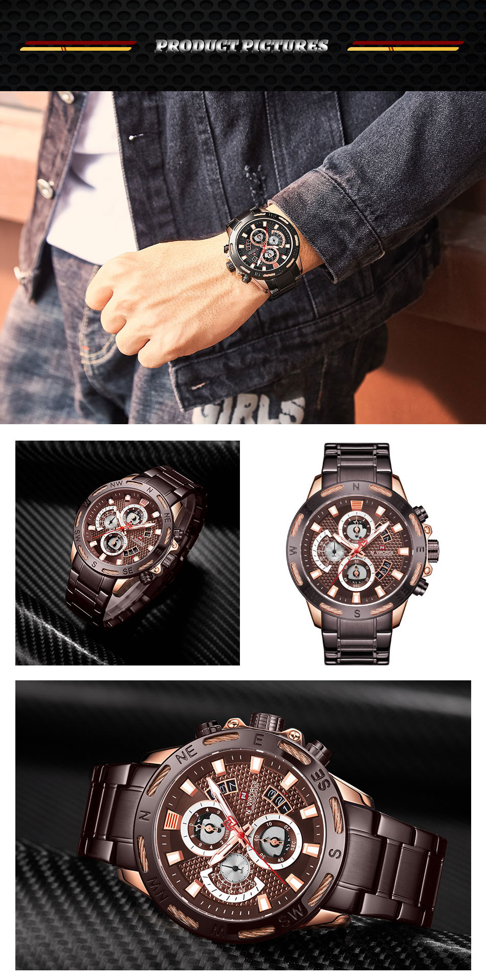 Stylish Branded Watch - MiraShop