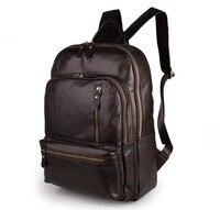 Nesitu Высокое качество Винтаж шоколад пояса из натуральной кожи 14 ''ноутбук для женщин мужчин рюкзаки женский мужской дорожные сумки M7313