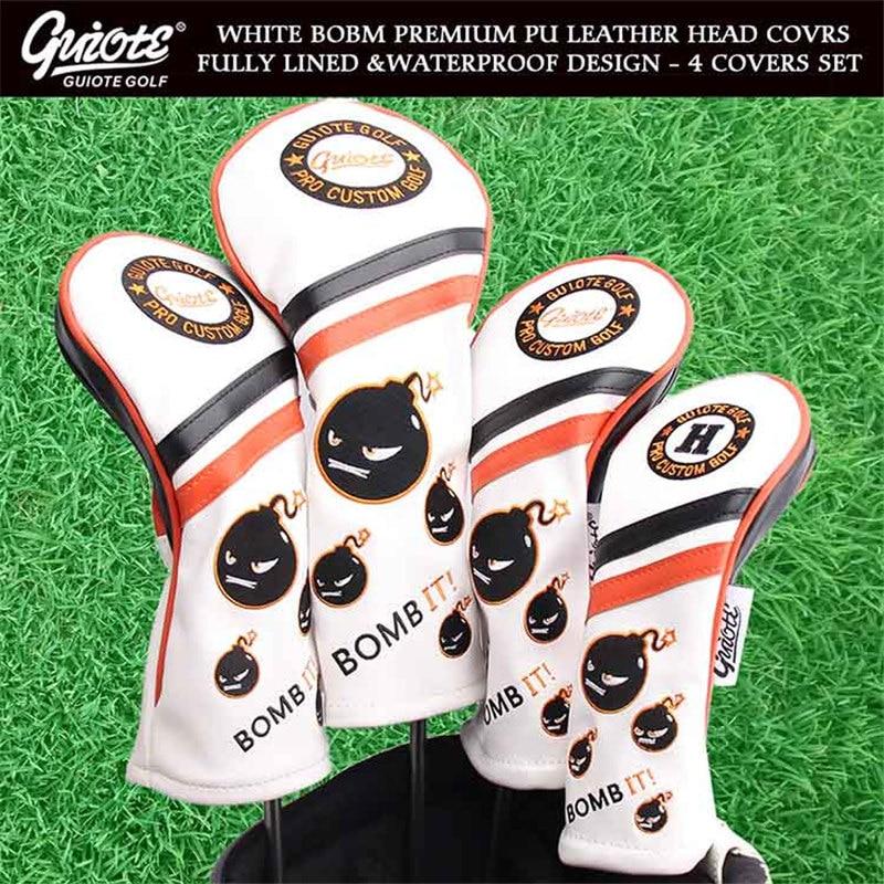 [2 Colors] BOMB IT! Golf Woods Head Covers Driver Fairways Hybrid HeadCover Set Vintage Series 135H 4pcs/lot For Men Women