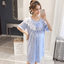 цены PurAmor Big Size Maternity Sleepwear Pregnant Women Pajamas Nursing Breast Feeding Nightgown Dress Lactation Clothes Nightgown