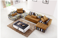 U BEST Sectionals Couch Chaise Corner Couches European Style Home Use Living Room Fabric Furniture Sofa