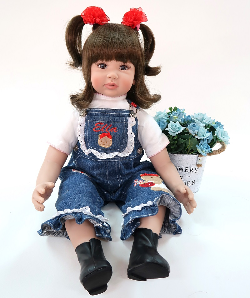 Soft Touch Cotton Body + Silicone Girl Reborn Babies Doll Toy 60cm Lifelike Newborn Princess Baby Bonecas Bebes Reborn Menina