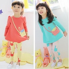 Cartoon cat pattern baby girls suit hello kitty clothing sets kids clothes