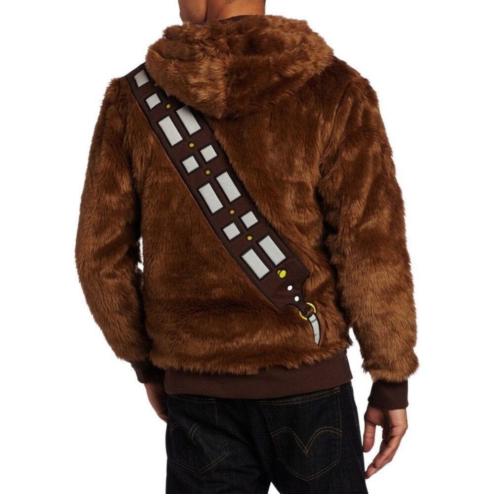 Star Wars Chewbacca Hoodie kostiumo striukė Cosplay - Karnavaliniai kostiumai - Nuotrauka 2