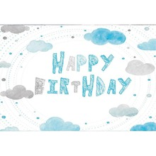 Laeacco Happy Birthday Clouds Baby Portrait Celebration Stage Scene Photography Backdrops Photographic Photo Studio Backgrounds