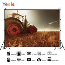 Yeele Photography Backdrops Tractor Wheat field Baby Portrait Wedding Photocall Photographic Backgrounds cloth For Photo Studio недорого