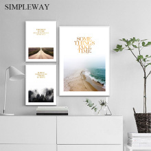 Scandinavian Landscape Canvas Poster Nordic Wall Art Print Coastal ForePainting Decoration Picture Modern Living Room Decor