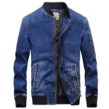 Denim jacket men new fashion Autumn men jeans jacket brand ZHAN DI JI PU overcoat jaqueta masculina casaco masculino embroidered(China)