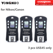3 YONGNUO RF 605C RF605C RF605N RF 605N Wireless Flash Trigger Cho Máy Ảnh Canon Nikon Tương Thích RF603II YN560IV YN685 YN660 YN560II
