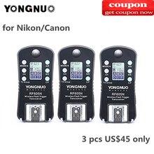 PCS YONGNUO RF 605C RF605C RF605N RF 605N 3 Sem Fio Flash Gatilho para Canon Nikon compatível RF603II YN560IV YN685 YN660 YN560II