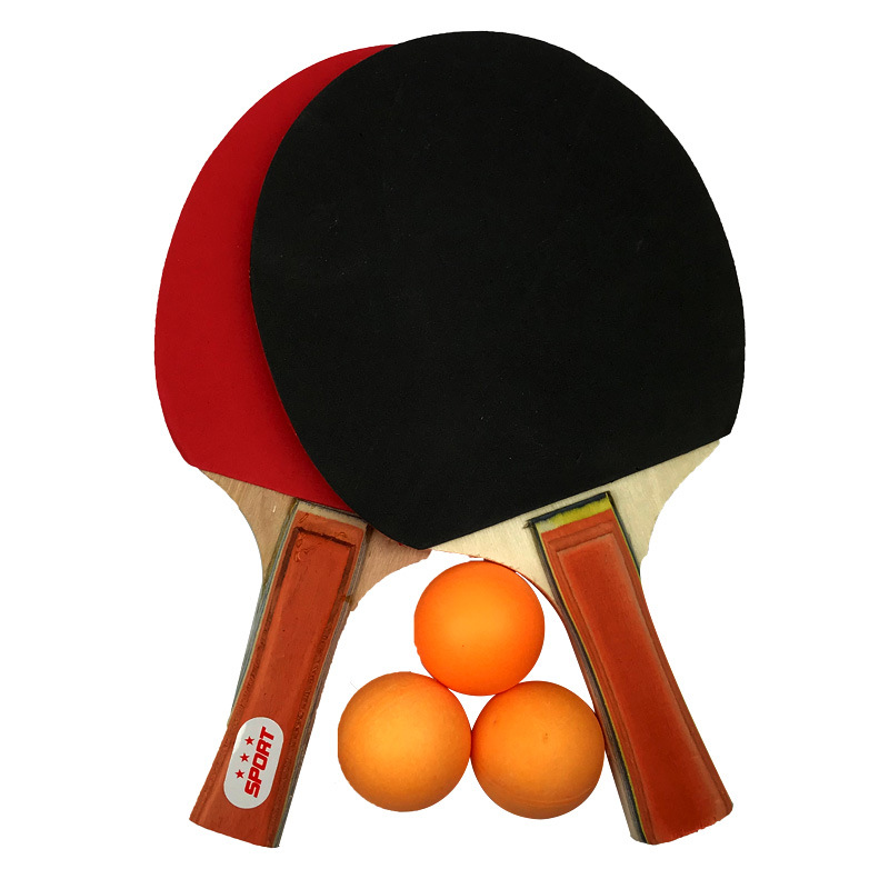 2pcs Professional Carbon Fiber Table Tennis Rackets With Double Face Pimples-in Table Tennis Rubber Ping Pong Racket With 3 Ball