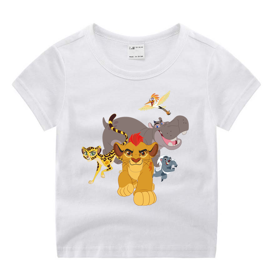 Girls Tshirt Tops Boys Movie Lion King Funny Print Baby Cartoon Summer O-Neck