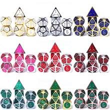 Chengshuo rpg dice металлический dnd набор многогранных подземелья и дракона настольная игра сплав цинка доступны в нескольких цветах d20 10 8 12
