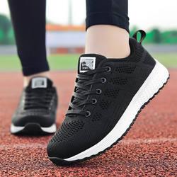 Прямая продажа с фабрики женская повседневная обувь модные дышащие прогулочная сетки кроссовки на плоской подошве для женщин 2019