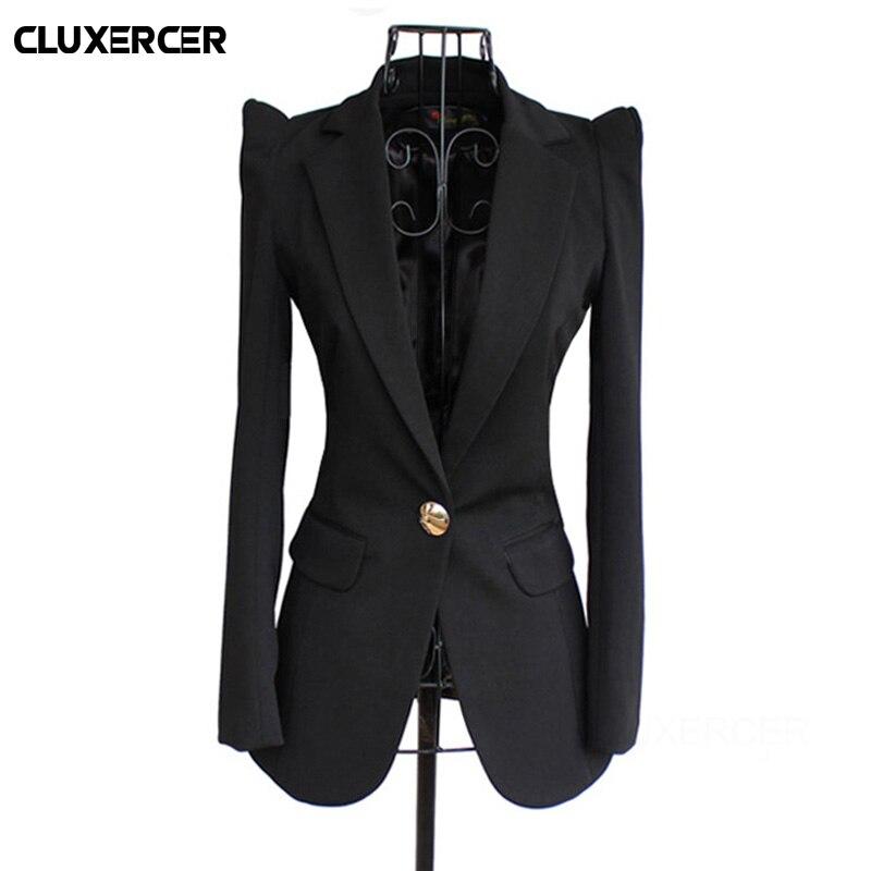 Black Women Blazers And Jackets 2020 New Spring Autumn Fashion Single Button Blazer Femenino Ladies Blazer Female