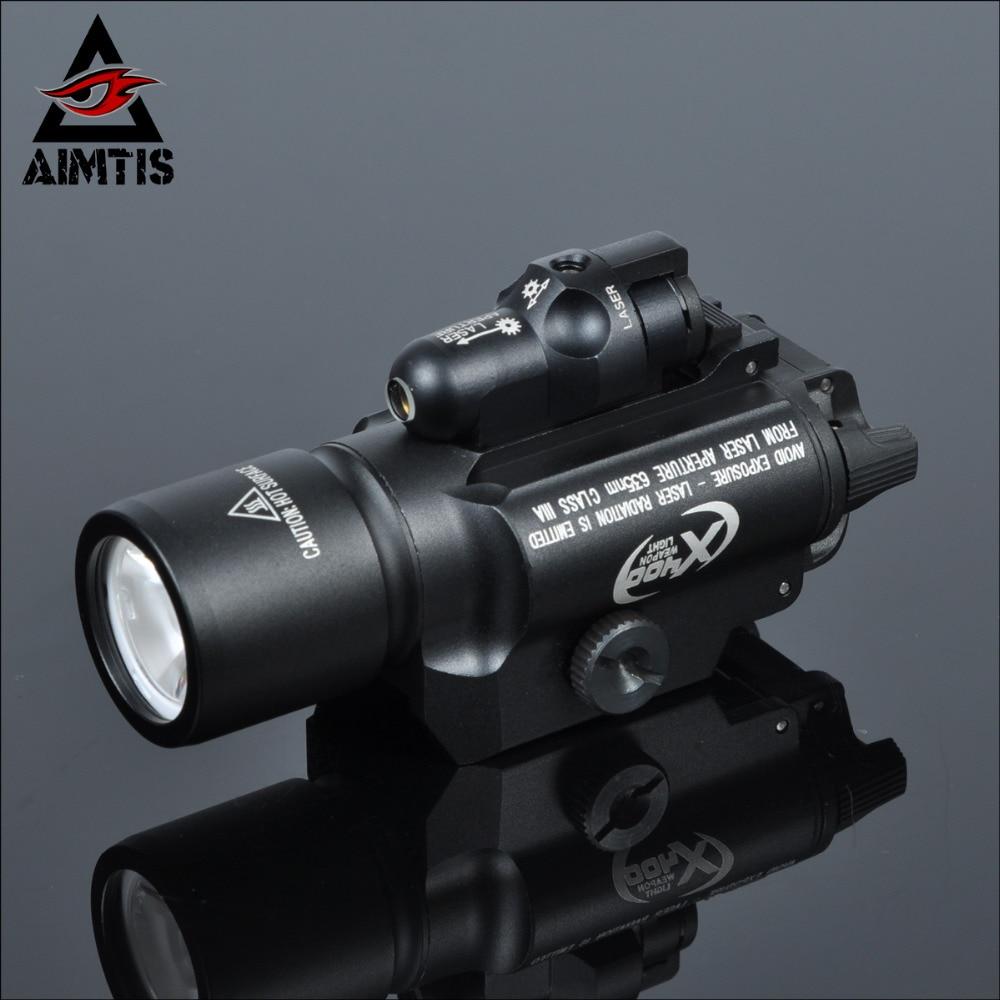 AIMTIS Tac X400 Laser Light Combo Led Weapon Gun Red Laser Flashlight Tactical Handgun Scout Light