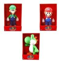 3pcs Set Super Mario Bros MARIO LUIGI YOSHI Collection 9 Toy Figure New In Box Gift