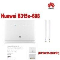 Huawei B315s-608 LTE FDD700/850/1800/2100/2600 (B1/3/5/7/28) Mhz Mobile Sans Fil VOIP CPE Routeur plus 2 pcs antenne
