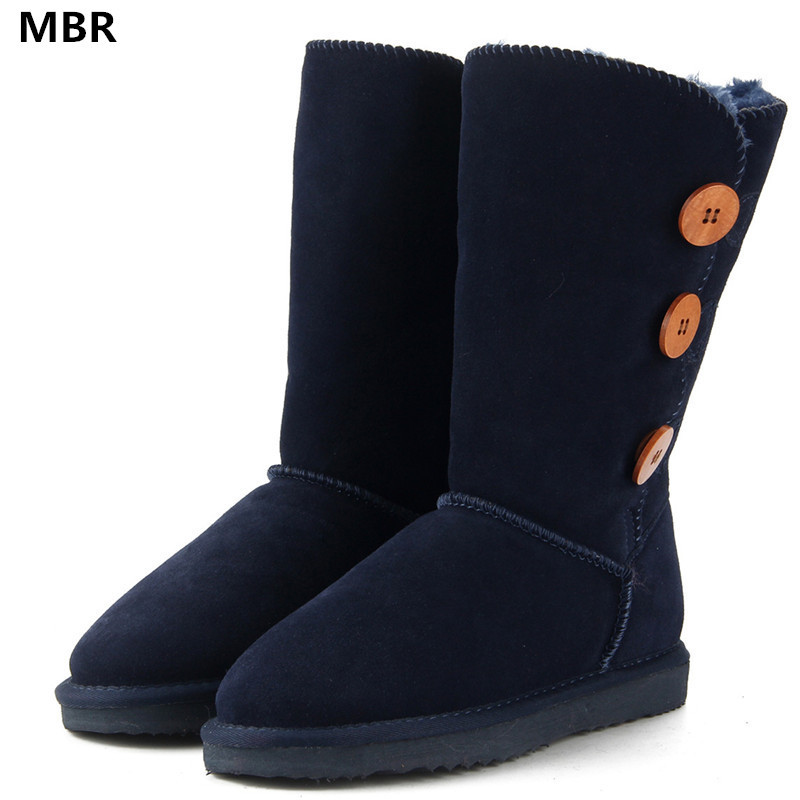 MBR 2017 NEW UG Classic Women Snow Boots Leather Winter Shoes Boot bota feminina botas mujer zapatos Women Snow Boots US 3.5-13 fashion white silver boots women punk boot shoes woman 2018 spring super cool ankle boots for women bota feminina zapatos mujer